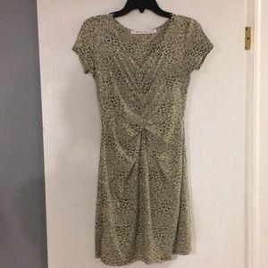 Pattern short sleeve dress